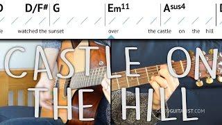 """Castle On The Hill"" Guitar Tutorial - Live Ed Sheeran Version | Chords & Strumming"