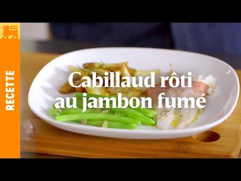 Recettes Delhaize €3 - Cabillaud rôti au jambon fumé