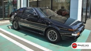 "Black beauty: The Toyota Sprinter Trueno ""Black Limited"" AE86 Hachiroku"