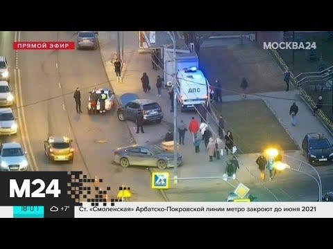 На северо-востоке Москвы автомобиль сбил женщину после ДТП - Москва 24