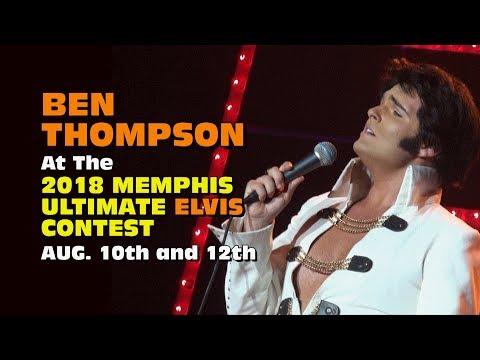 Ben Thompson at the 2018 Memphis Ultimate Elvis Contest
