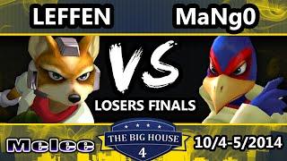 The Big House 4 - Leffen (Fox) Vs. Mango (Falco) - Losers Finals - SSBM
