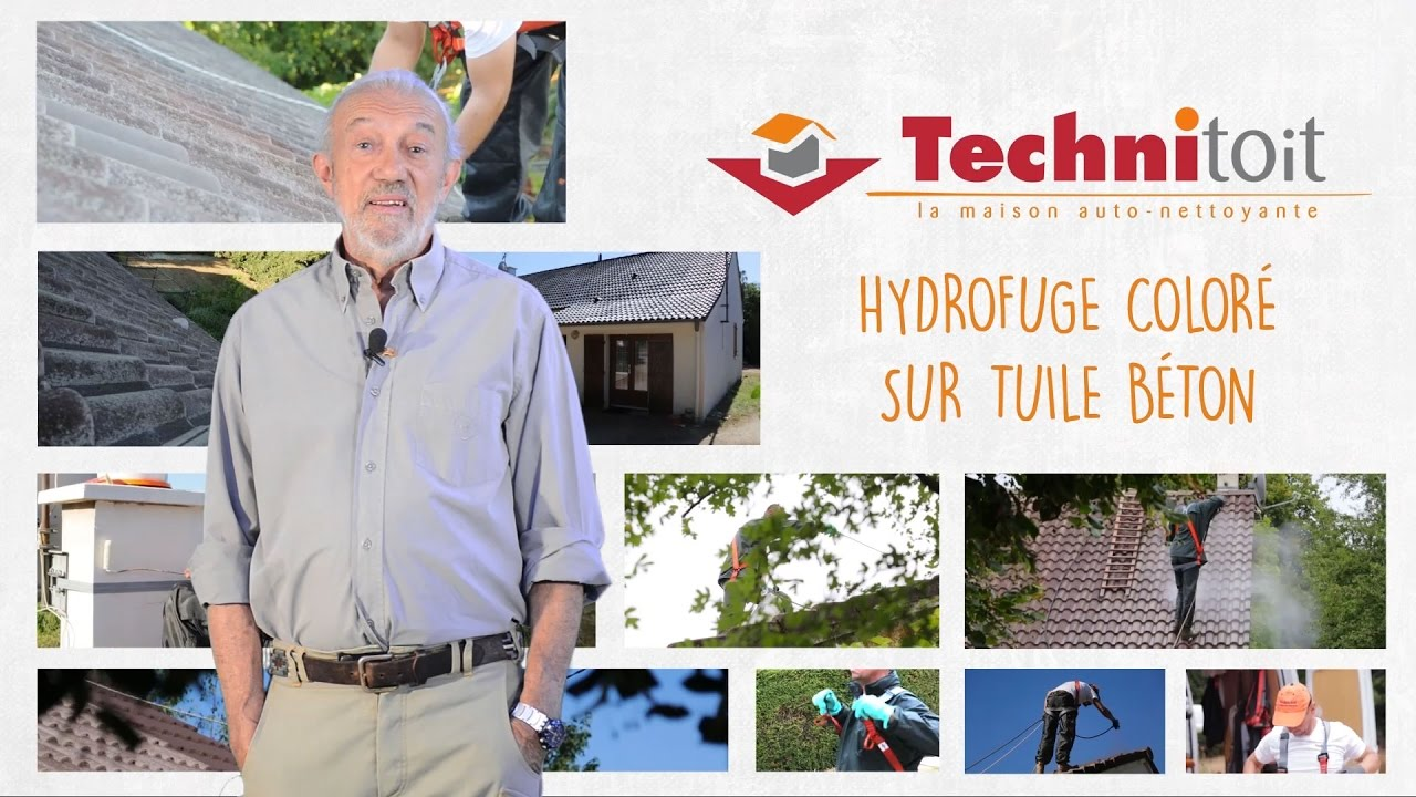 technitoit robert longechal pr sente l 39 hydrofuge toiture sur tuile b ton youtube. Black Bedroom Furniture Sets. Home Design Ideas