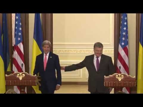 Secretary Kerry and Ukraine President Poroshenko at Press Availability