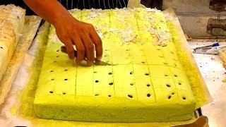 HUGE SPONGE CAKE DESSERT | Bangkok Street Food, Thailand
