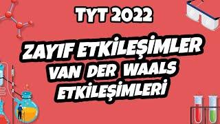 Zayıf Etkileşimler – Van Der Waals Etkileşimleri  TYT Kimya 2022 hedefekoş