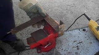 Cómo cortar un perfil  de hierro en ángulo, en inglete a 45º, con amoladora o radial.