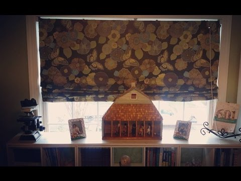 How to make a Roman shade with miniblinds! No sew project!