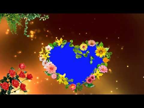 love-symbol-beautiful-blue-mat-background-animated-video