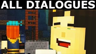 Jesse Meets With Petra In The Mine - All Dialogues - Minecraft: Story Mode Season 2 Episode 1