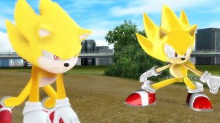 Modern Super Sonic V.S. Movie Super Sonic - The Race Finale [Animation] ソニック v. ソニック