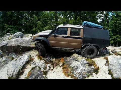 Watch tower Kosice rock crawling with Hilux doublecab