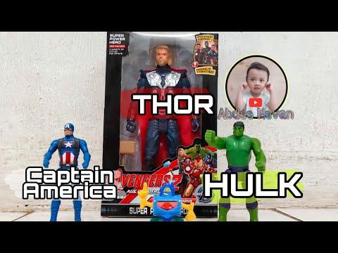 Mainan Avengers | Thor, Hulk, Captain America
