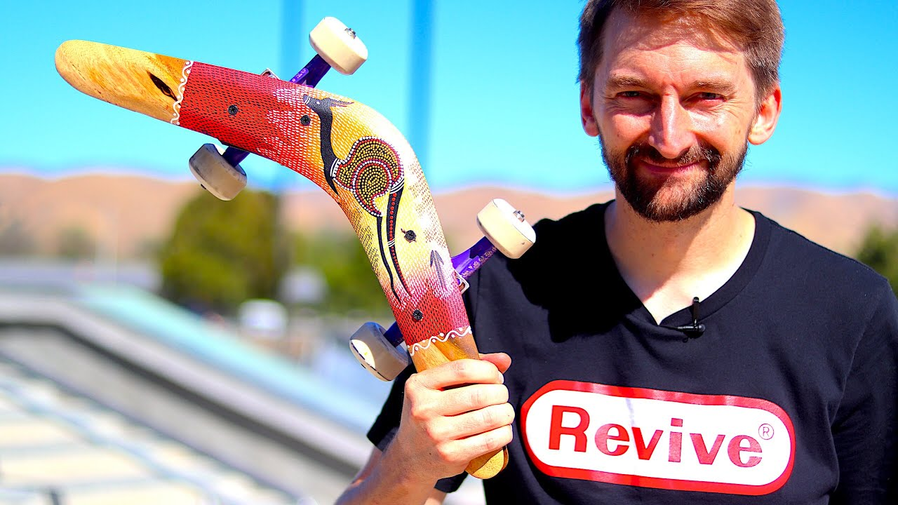 SKATING A REAL AUSTRALIAN BOOMERANG | SKATE EVERYTHING EP. 109