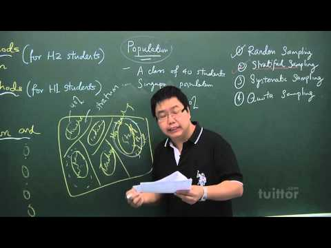 JC Mathematics H1 - Topic 12 Sampling Methods and Estimation Demo Video