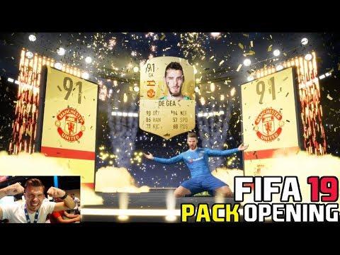 INCREDIBIL !!! DAVID DE GEA + 10 WALKOUT - FIFA 19 PACK OPENING