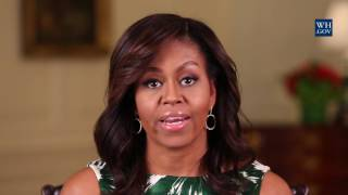 First Lady Michelle Obama Announces the Winner of the Reach Higher Career App Challenge