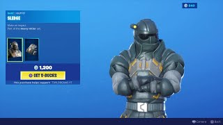 Fortnite Item Shop * novo * SLEDGE Skin! Jogo pesado do HITTER! (2 de setembro de 2019)