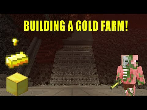 how to build a gold farm in minecraft