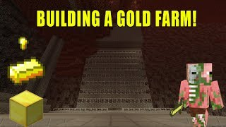 Minecraft Xbox - Ep 27 Building a Gold Farm!