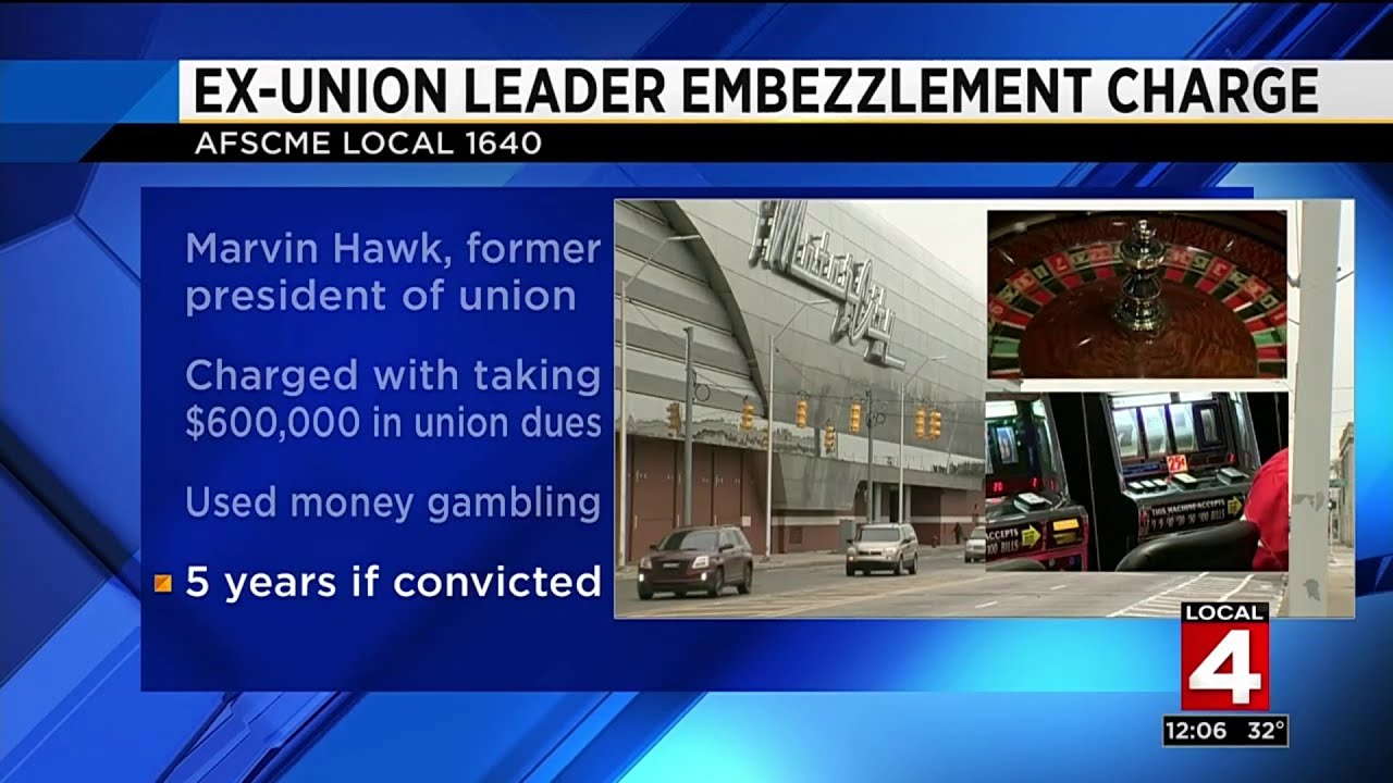 Former AFSCME Local 1640 president Marvin Hawk charged with stealing  $600,000