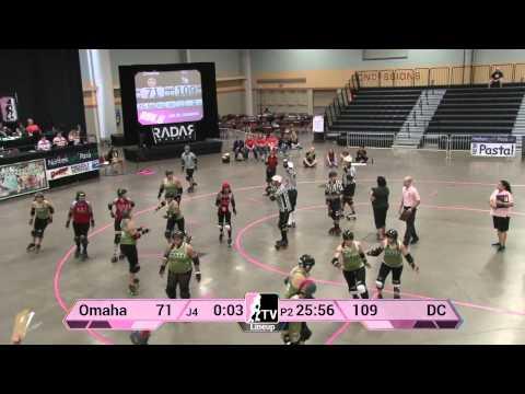 Omaha Rollergirls v DC Rollergirls: 2013 WFTDA D2 Playoffs in Des Moines