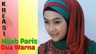 Tutorial Hijab Paris Segi Empat Dua Warna Special Ramadhan & Lebaran