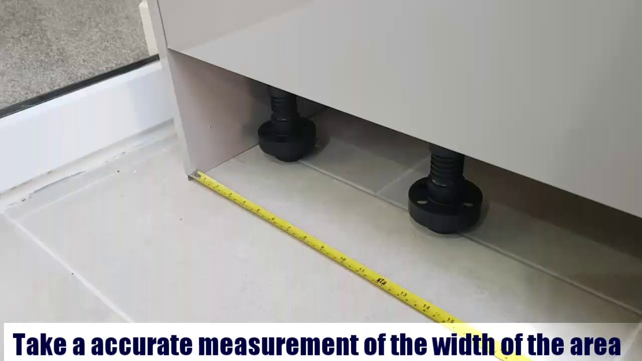 DIY..How to fit a plinth for kitchen units.