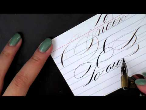 3. Pointed Pen Calligraphy 101: Paper, Ink and other supplies