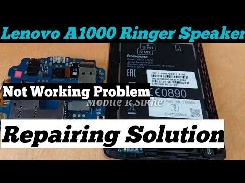LENOVO A6000 SPEKAER AND RINGER WAY