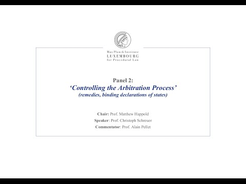 TTIP – Panel 2 - Controlling the Arbitration Process