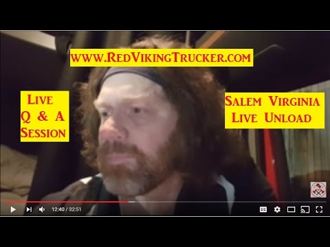 Questions Answered Live in Salem Virginia During Live Unload Red Viking Trucker