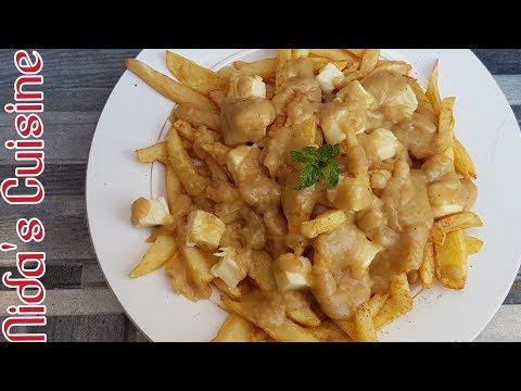 Easy Canadian Poutine Recipe - French Fries With Gravy - Canadian Special - Nida's Cuisine