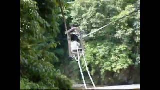 There are gondolas called Yaen in Totsukawa village, Japan. Yaen ar...