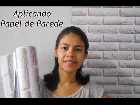 Como aplicar papel de parede fácil e rápido!