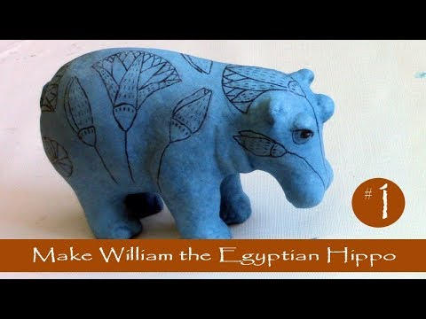 1 - Make William the Egyptian Hippo with Paper Mache Clay