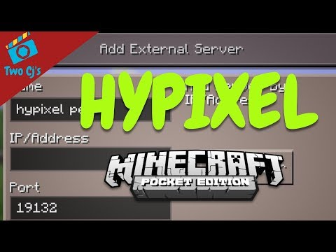 Hypixel PE Tutorial - Joining Server