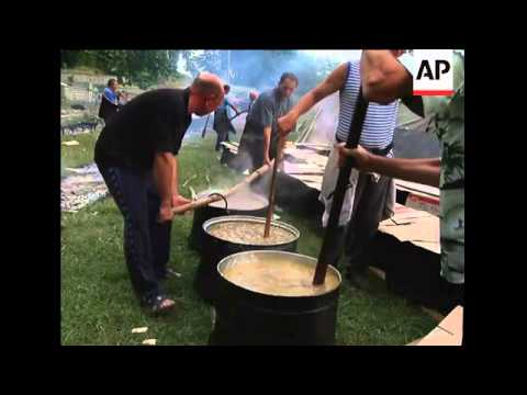 Bulgarian Muslim villagers pray for rich harvest