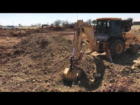 Excavating sand stone