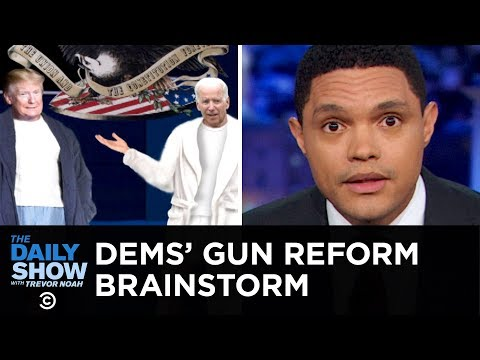 Dems Share Four-Letter Thoughts on Trump and Guns | The Daily Show