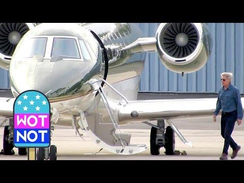 Harrison Ford Pilots a Luxurious CJ3 Citation Jet in Santa Monica
