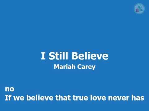 Karaoke for male - I Still Believe - Mariah Carey