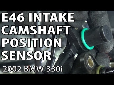 BMW E46 Intake Camshaft Position Sensor Replacement P0344 P0340 DIY