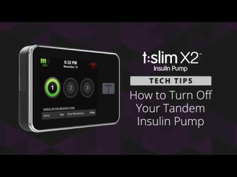 How to Turn Off Your Tandem Insulin Pump