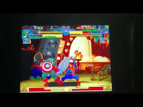 lordorochimaru vs SCRAMERRATIC marvel vs capcom Arcade1up cabinet online rank match from Morty 215 fight club bring your quarters