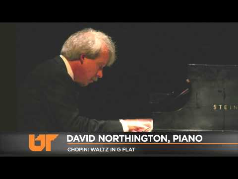 University of Tennessee School of Music, David Northington performs Chopin Waltz in G Flat