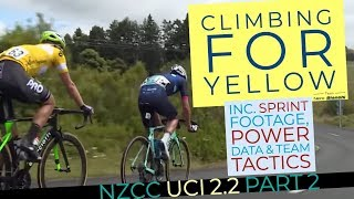 Climbing For Yellow (with Power Data) - 2019 UCI Racing NZCC Part 2 of 3 - NZ Road Racing