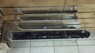 Накладки на пороги с подсветкой BMW F10 F30 X5 X6(, 2015-04-13T16:21:57.000Z)