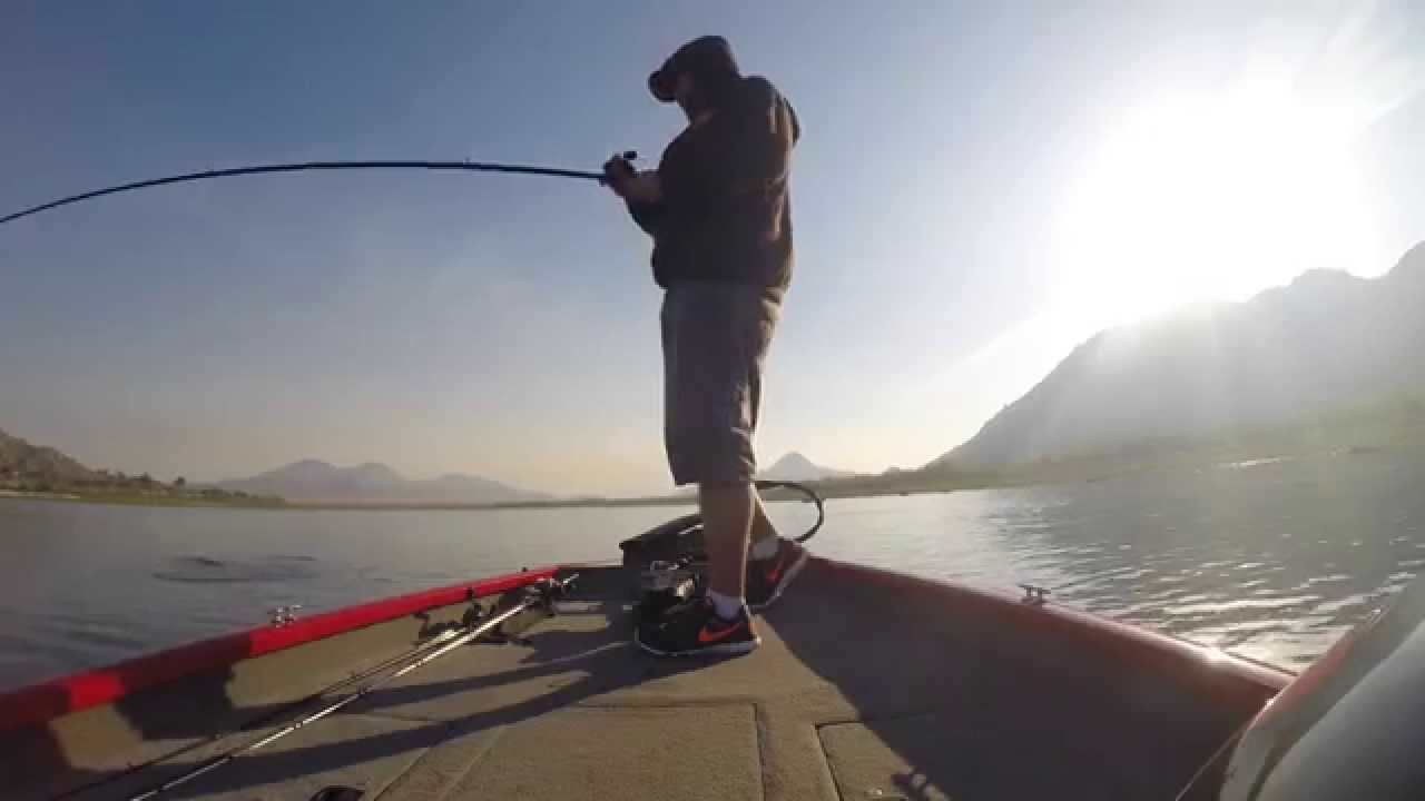 A rig at lake perris 04 15 youtube for Lake perris fishing report