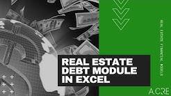 Real Estate Debt Module in Excel